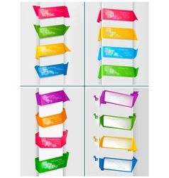 huge set of colorful origami vector image