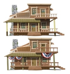 Two storey house in the American country style vector image vector image