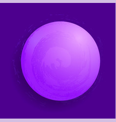 abstract glowing magic sphere 3d planet concept vector image