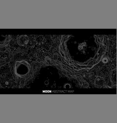 Abstract moon relief map generated vector