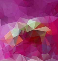 Abstract pink magenta polygonal triangular pattern vector