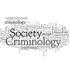 American society criminology vector