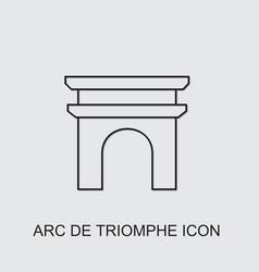 Arc de triomphe icon vector