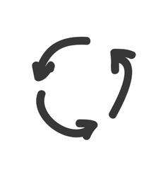 Arrow circle icon Sketch design graphic vector