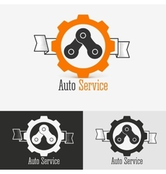 Auto logo design template vector image