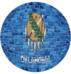 Ball with oklahoma flag vector