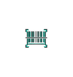 barcode icon line design business icon design vector image