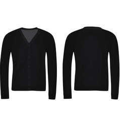 black cardigan vector image