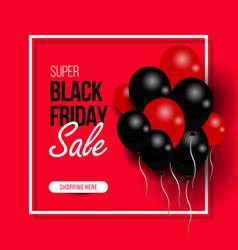 Black friday big sale black air balloon creative vector