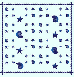 blue sea abstract pattern background vector image