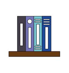 Bookshelf binder book supplies office vector