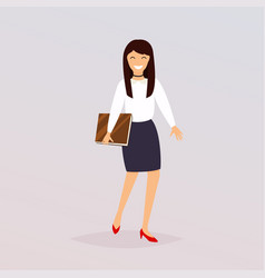 business woman character flat design modern vector image