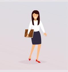 Business woman character flat design modern vector
