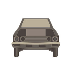 car front flat view vehicle icon isolated auto vector image