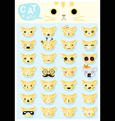 Cat emoji icons 2 vector
