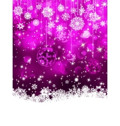 Christmas background with baubles EPS 8 vector