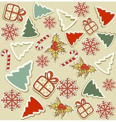 Christmas items vector