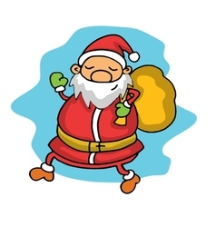 Christmas Santa Claus with presents vector