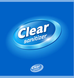 Clear logo sanitizer hands hand antiseptic vector