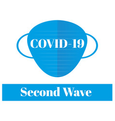 covid19-19 - second wave please wear your mask vector image