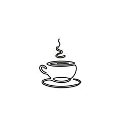 creative black coffee mug lines logo vector image