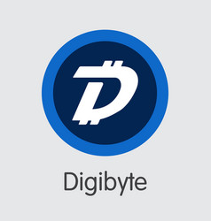 digibyte - cryptocurrency logo vector image
