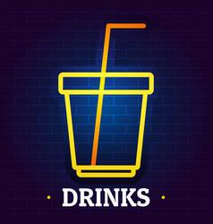 Drinks signboard logo flat style vector