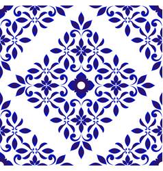 Floral tile pattern vector