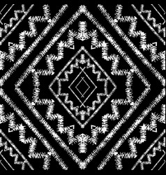 geometric tribal black and white seamless vector image