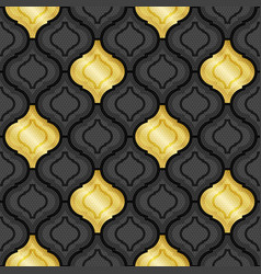 gold and black abstract tiles background vector image