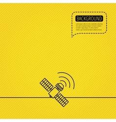 GPS icon Satellite navigation sign vector