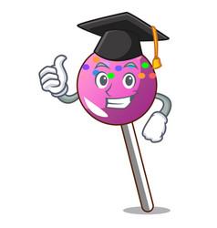 Graduation lollipop with sprinkles character vector