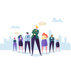 Group of business people characters with leader vector