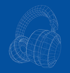 headphones concept outline vector image