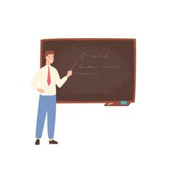 inspiring male school teacher university vector image