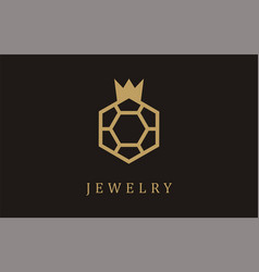 jewelry gold ring logo earrings silver wedding vector image