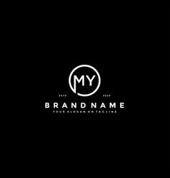 Letter my logo design vector
