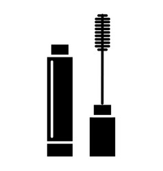 Mascara icon black sign on vector
