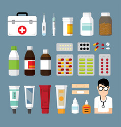 medicine and pharmacy vector image