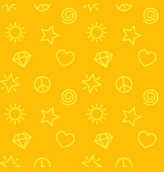 Minimalistic pattern seamless yellow background vector