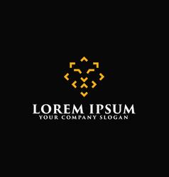 modern line lion logo design concept template vector image