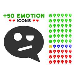 negation smiley message icon with bonus smile set vector image