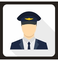 Pilot icon flat style vector image
