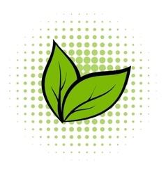 Plant seedling comics icon vector image