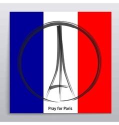 Pray for Paris 13 November 2015 Abstract vector image