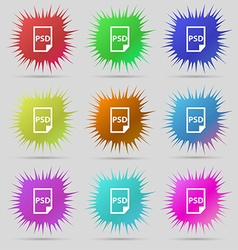 PSD Icon sign A set of nine original needle vector image