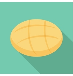 Round bread icon flat style vector image