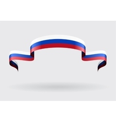 Russian flag background vector