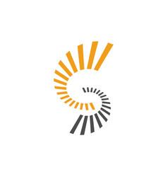 S letter striped initial logo design vector