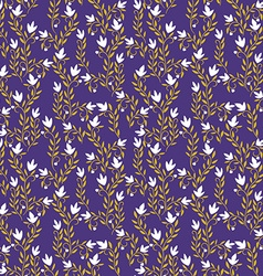 Seamless Patterned Purple Floral Background vector image